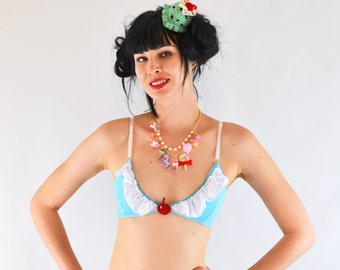 Frilly cupcake bralet with cherry