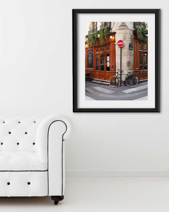 "SALE! Paris Print, ""Ile St. Louis Bike"" Extra Large Wall Art, Paris Photography Art Print, Oversized Art, Fine Art Photography Paris Decor"