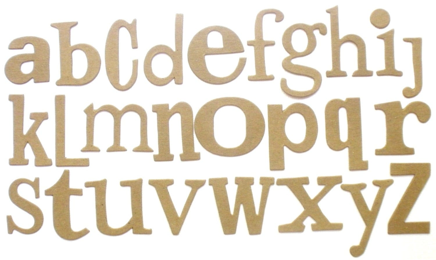 Chipboard Letters Ideas ~ Word play font raw chipboard alphabet letters bare die