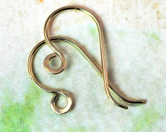 Earwires 14K Gold Filled French Style Handmade: 1 pair