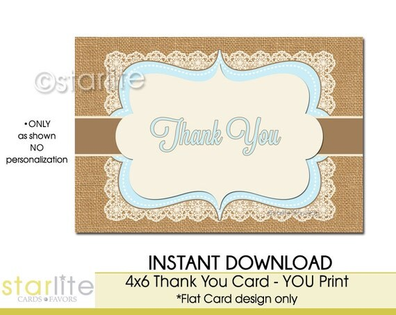 Unusual image for printable baby shower thank you cards