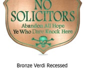 Abandon Hope Solicitors Plaque Custom what you want it to Say Skull and Crossbones optional 10x7 inches all by Atlas Signs