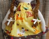 Sew Sunshine -JCOCO doll-(doggie prints)- Handmade Soft Cotton Doll
