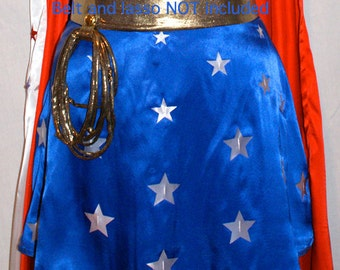 Wonder Woman Flared Mini-Skirt... Quality Satin...