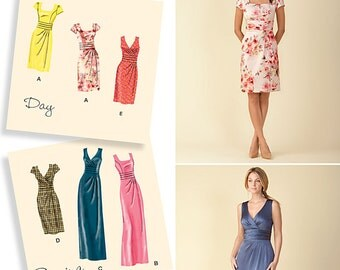 OOP Misses' Dress in Two Lengths with Bodice Variations, Simplicity 1420 US Pattern Sizes 6 -8 -10 -12 -14 or 16 -18 -20 -22 -24
