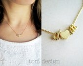 Gold Cursive Initials Necklace - Tiny Initials Script Letter Personalized Gift for Her, Custom Personalized Bridesmaid Gift Wedding Mini