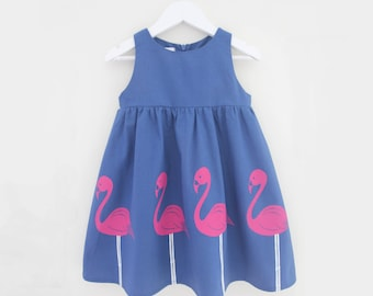 Girl's Flamingo Dress