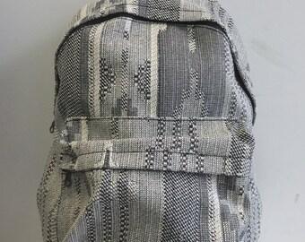 SALE 1 LEFT Handmade Aztec Woven Back Pack