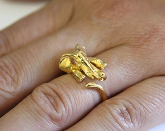 Gold Elephant Ring  Lucky Elephant Ring 284