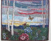 Evening Departure - quilted wall-hanging