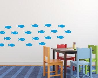 Fish Wall Decal Stickers Set of 20  DB216