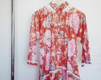 Kimono Tunic Top in Floral Print