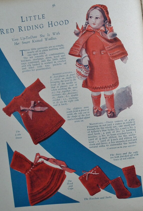 RESERVED RESERVED Vintage Sewing Book 1920s 1930s - Book of Good Needlework 4 - needlecraft knitting 20s 30s patterns