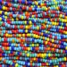 6/0 Opaque Rainbow Mix Czech Glass Seed Bead Strand (CW177)