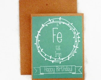 Birthday Card - Science Nerd - Periodic Table of Elements - Breaking Bad - Personalized - Custom