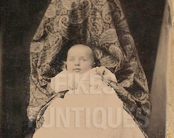 Creepy Hidden Mother with Baby - Vintage Photo Digital Download