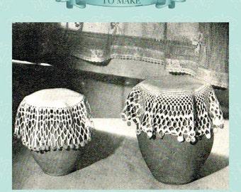 Vintage crochet pattern for milk jug cover,sugar bowl cover - instant download pdf email delivery