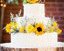 "18"" STUMP Rustic Wood Tree Trunk Slice - Wedding Cake Base or Photography Prop - STUMP - Bark Cake Stand - Wooden"