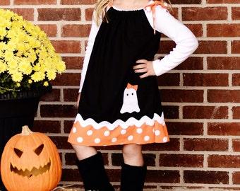 Halloween Ghost Pillowcase Dress Sizes 12m-8