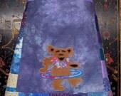 Happy Hooping Grateful Dead Bear Hemp Apron Skirt