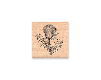 THISTLE FLOWER Rubber Stamp~Scottish or Scotland Botanical Plant~Wood Mounted Rubber Stamp (lg 42-19)(sm 25-26)