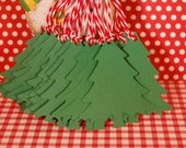 Large Christmas Pine Tree Gift Tags in Classic Green-Set of 15-Paper Ornament-Christmas Tag-Place Card-Gift Tag-Earring Card-Ready to Ship
