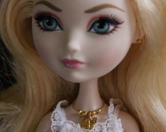 Golden Butterfly Doll Jewelry Necklace Bracelet Earring Set for Petite Slimline High Dolls