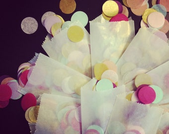 CONFETTI WEDDING FAVORS / 150 glassine bags / wedding favor / New Years Eve / table decoration / confetti toss / party favor / table setting
