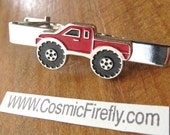 Men's Tie Clip Red Truck Tie Clip Style Men's Gifts For Him