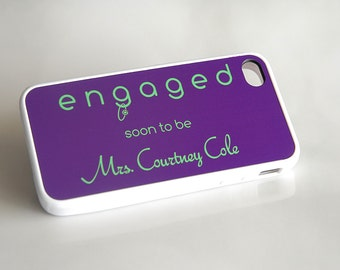 Personalized iPhone Case + Monogram iPhone Case + Engagement iPhone Case iPhone 6 Case, iPhone 6 Plus, 6+ Case