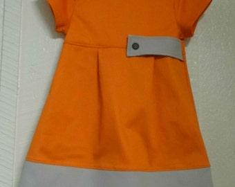 Orange and Tan Creamsicle girls dress