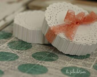 250 lace paper doilies, 4 inch
