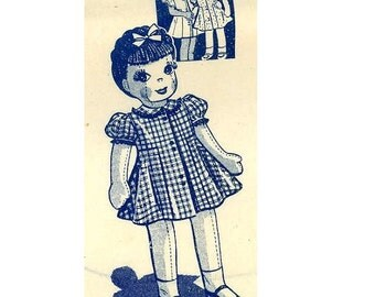 "Vintage Doll PATTERN 732 Jointed Doll 32"" with Clothes of the 1960s"