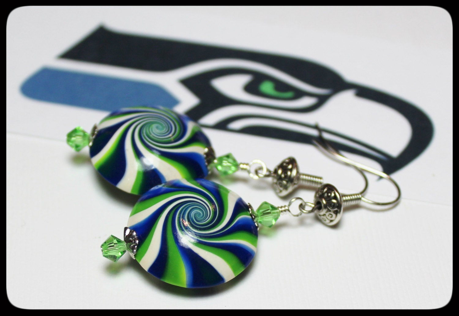 handmade jewelry seattle seattle seahawks handmade jewelry earrings beaded polymer 9841