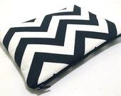 iPad Mini Case, iPad Mini Sleeve, Samsung Galaxy Tab Case, Amazon Fire HD Case, Amazon Fire Kids, Padded Zipper Case, Black Chevron Fabric