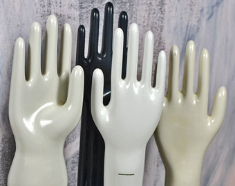 Industrial white Porcelain Glove Mold... home decor... photography prop... jewelry display  L