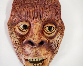 WereWolf ceramic wall mask