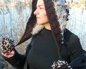 Womens Pom Pom Hat - Knit Pom Beanie Women  Hood  Hat -  Womens hat   Winter Hat Gift for Her  Boho Hat   Winter Accessories  Women  Fashion