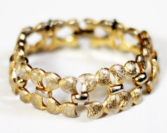 Vintage Monet Bow Link Bracelet