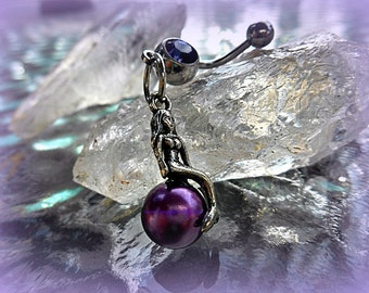 Fantasy Purple Mermaid Belly Ring,Beach Girl,Trending Jewelry,Navel Jewelry,Siren,Summer Jewelry,Fantasy Style,Ready to Ship,Direct Checkout