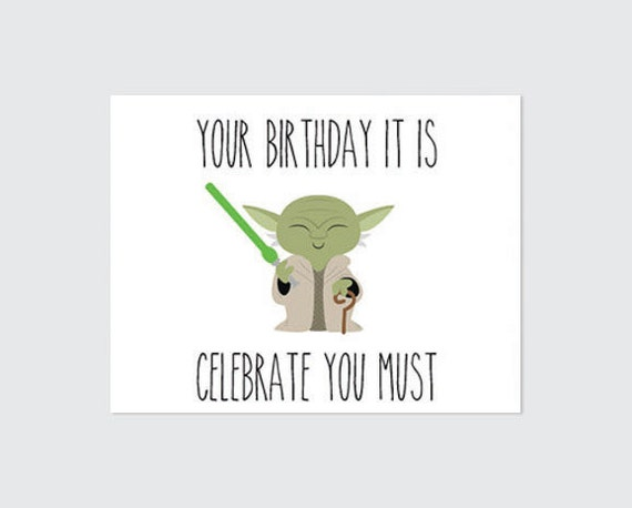 Soft image for star wars birthday card printable