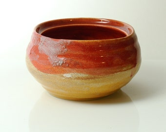 Pink and Sand Ceramic Pot