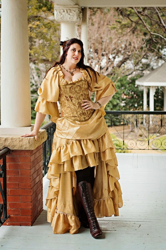 belle inspired steampunk victorian costume