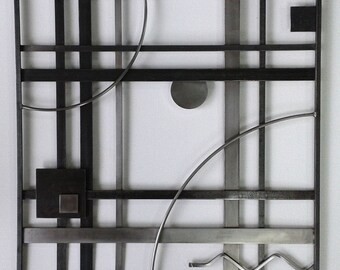 Metal Wall Art Panel Eternity Series 3 -FREE SHIPPING- Handmade- Home and Garden Decor Modern Sculpture