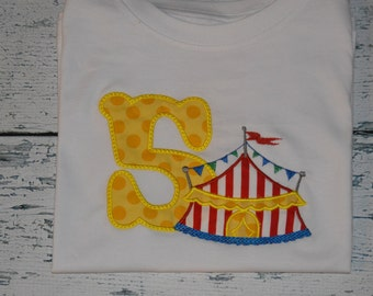 PERSONALIZED Carnival Birthday Shirt  Monogrammed 1, 2, 3, 4, 5, Circus Birthday
