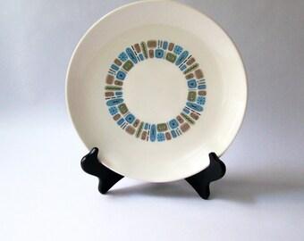 "Mid Century Modern TEMPORAMA Pattern 10"" Plate"