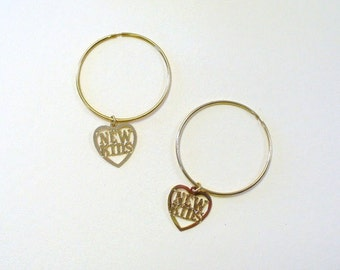 Vintage NKOTB New Kids Hoop Earrings DEADSTOCK