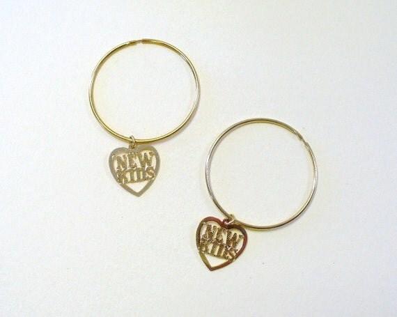 vintage nkotb new hoop earrings deadstock