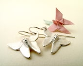 Origami Earrings Silver Butterfly Earrings Origami Butterfly Origami Jewelry