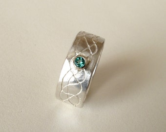 EMERALD Ring For MEN Sterling Silver Ring With Natural Emerald Jewelry For Men